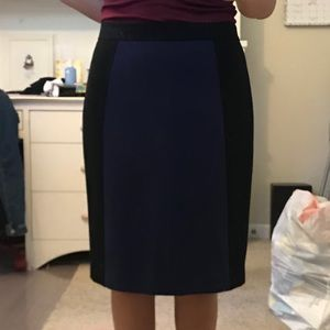 Very soft black and blue pencil skirt